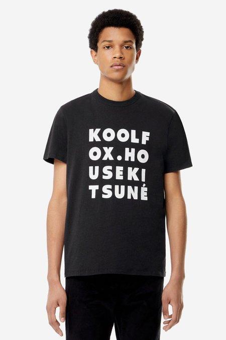 Kitsune T-Shirt Kool Fox - Black