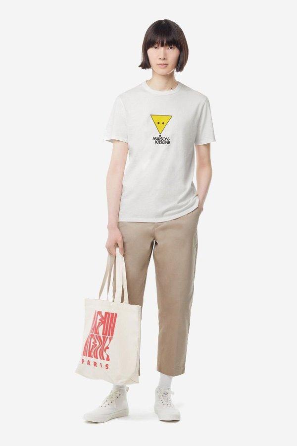 Kitsune T-Shirt Smiley Fox - White