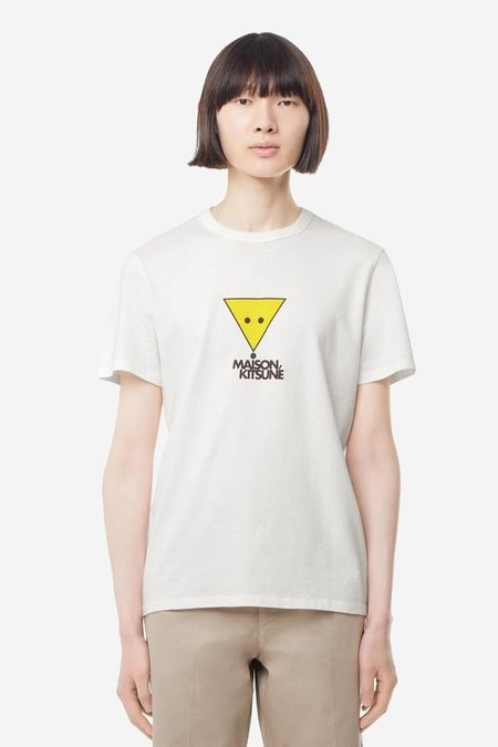 Kitsune T-Shirt Smiley Fox - White