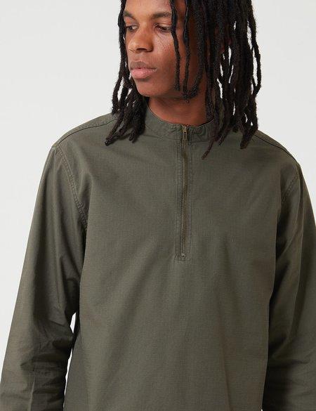 Bleu De Paname Biaude Zip Shirt - Kaky Military Green