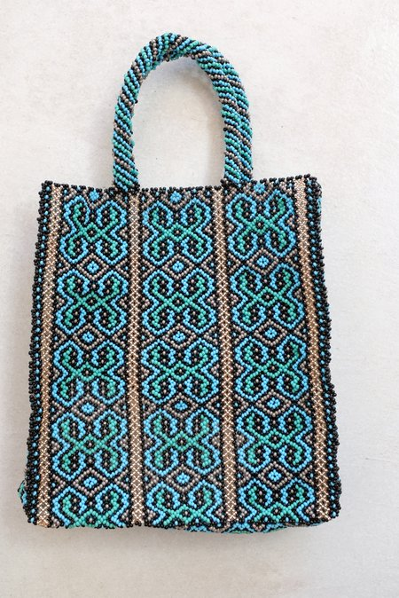 Mozh Mozh Beaded Bag - Sea