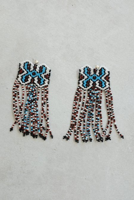 Mozh Mozh Shipibo Earrings - Sky