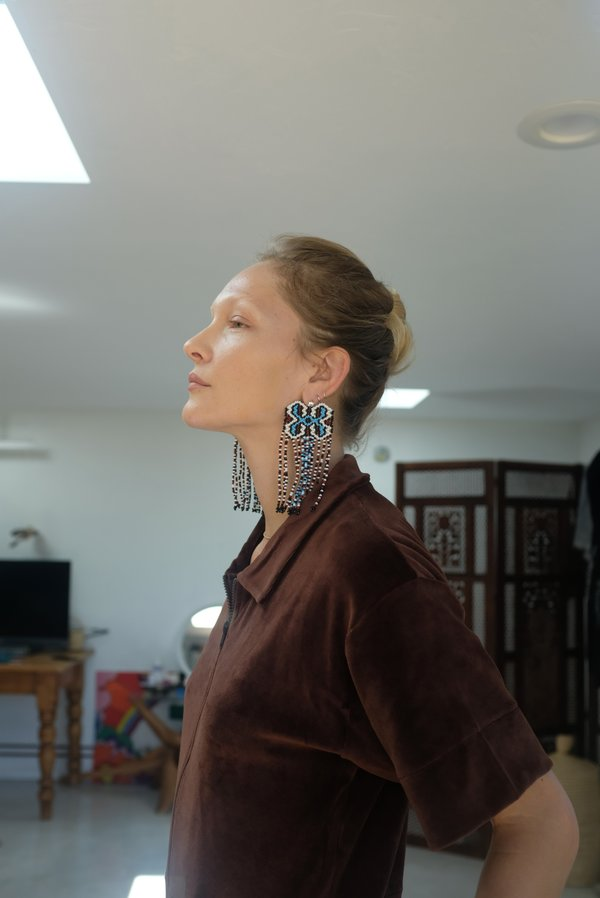 Mozh Mozh Shipibo Earrings - Sky