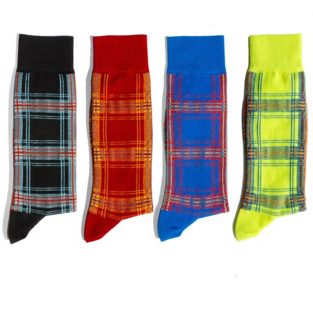 Necessary Anywhere ALL PLAID-ALL THE TIME SOCKS - 4 PACK