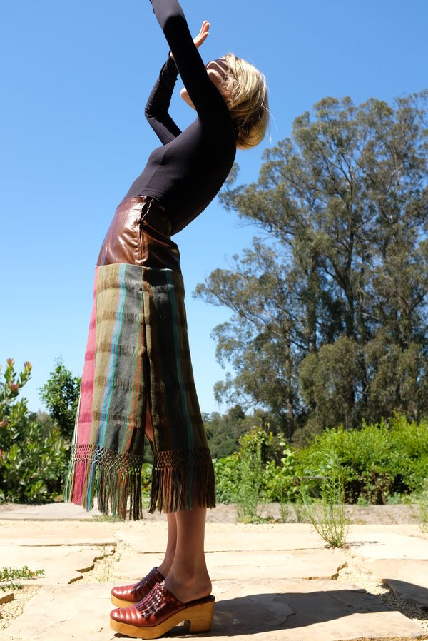 Mozh Mozh Tassel Skirt - Brown