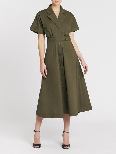 Camilla And Marc Dean Button Up Dress - Khaki