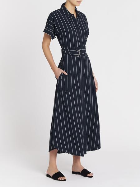 Camilla And Marc Winnie Dress - Navy/White Stripe