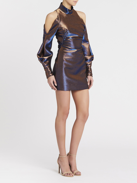 Camilla and Marc Bella Mini Dress - Metallic Cobalt