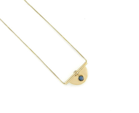 Artifacts Arc Necklace - Brass