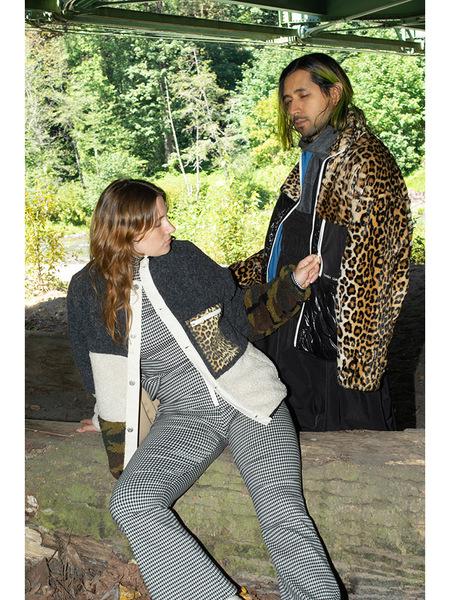 Unisex Sandy Liang Dean Fleece Jacket - Leopard