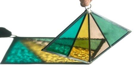 Debbie Bean Diamond Suncatcher - Ocean