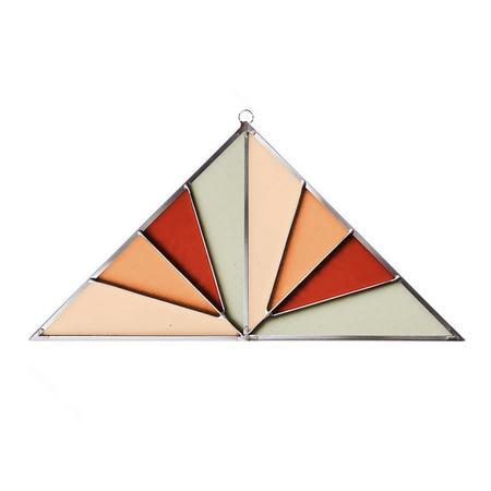 Debbie Bean Large Triangle Suncatcher - Field