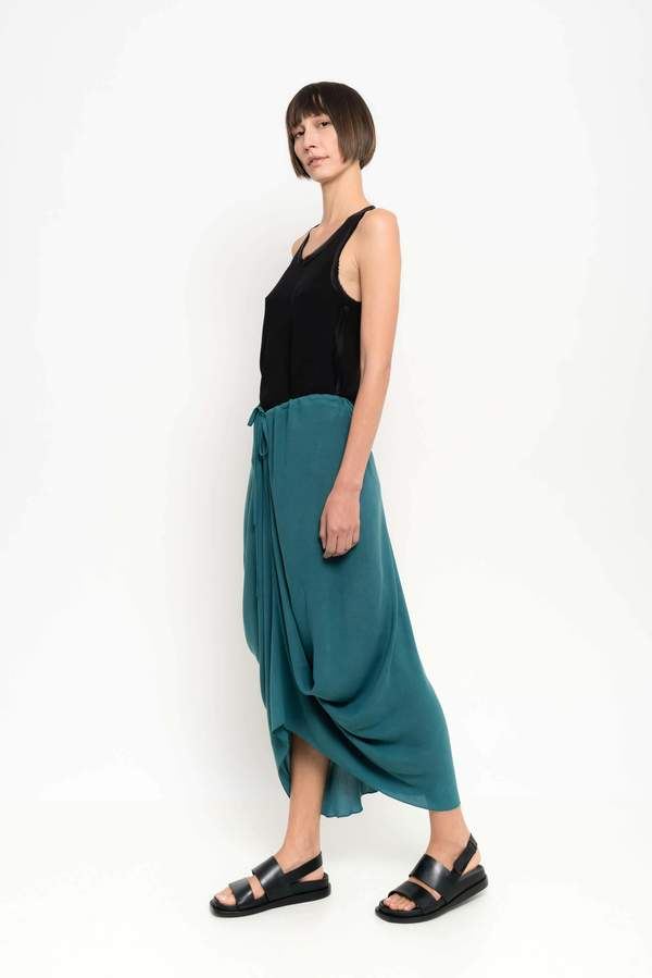 attractive price 60% cheap best prices Uma Raquel Davidowicz Mexico Draped Midi Skirt With Layer on Garmentory