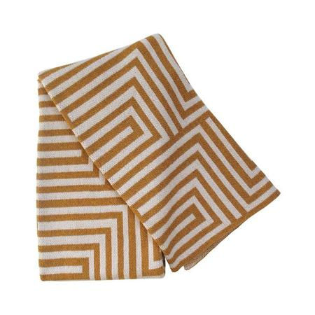 Happy Habitat Heavy Recycled Cotton Blanket - Maze
