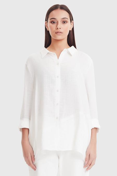 COMMONERS Panel Shirt - White