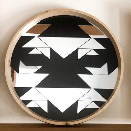 Wolfum Round Mirrored Tray - Carmela