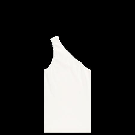 Helmut Lang Femme One Shoulder Top - Chalk White