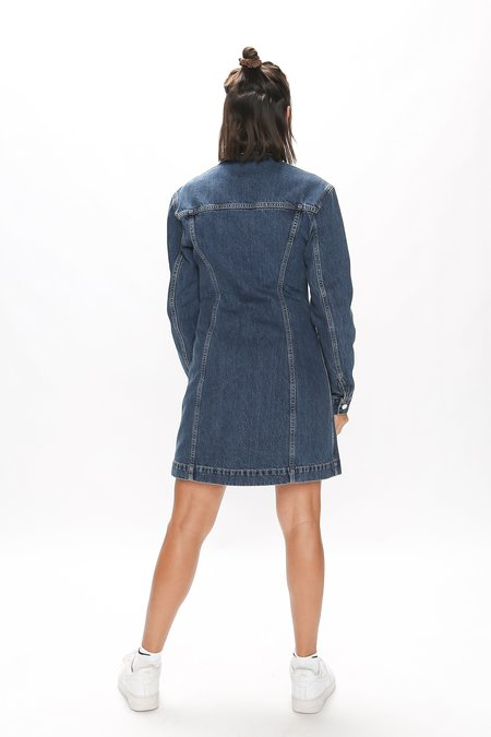 Helmut Lang Femme Trucker Dress - Midnight Stone