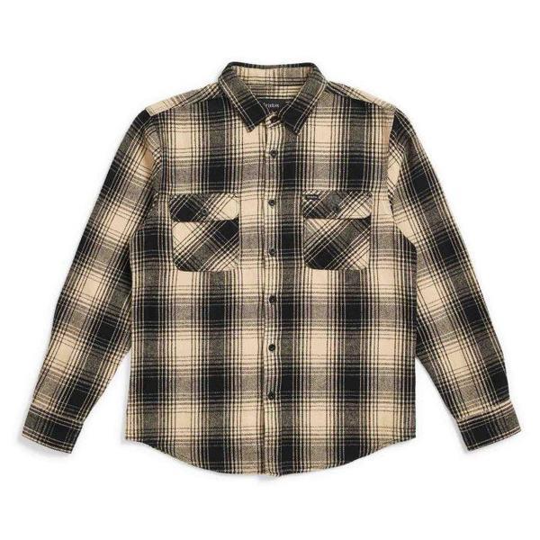 Brixton Bowery Flannel Shirt - Black/Bone