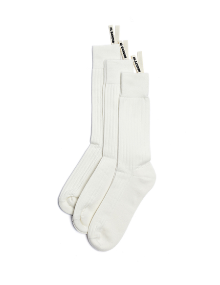 Jil Sander 3-Pack Socks - White