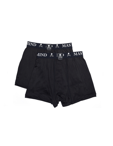 Mastermind WORLD Two-Pack Silk Boxers - Black