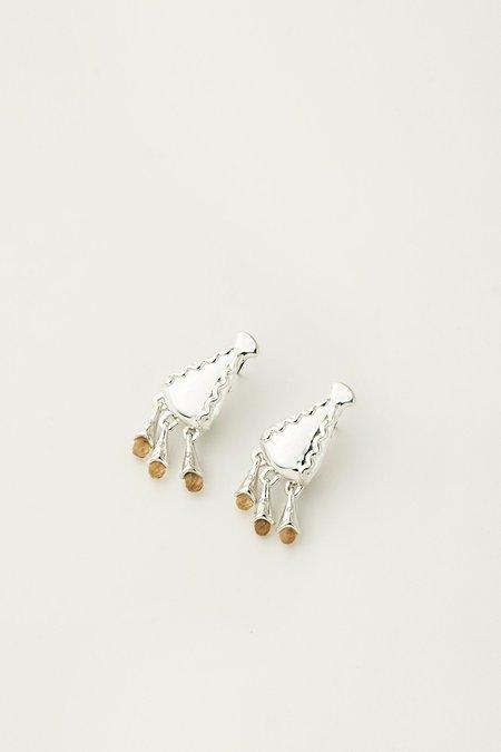 MM Druck Silver Diti Earrings - Silver