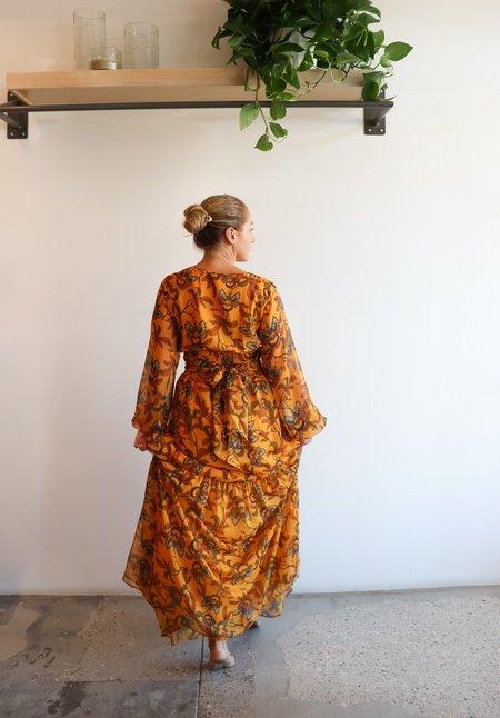 Eywasouls Malibu Lola Dress - Mid Summer Leaves