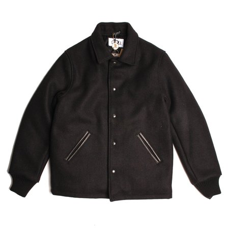 Golden Bear Wool Varsity Jacket - 32oz Black