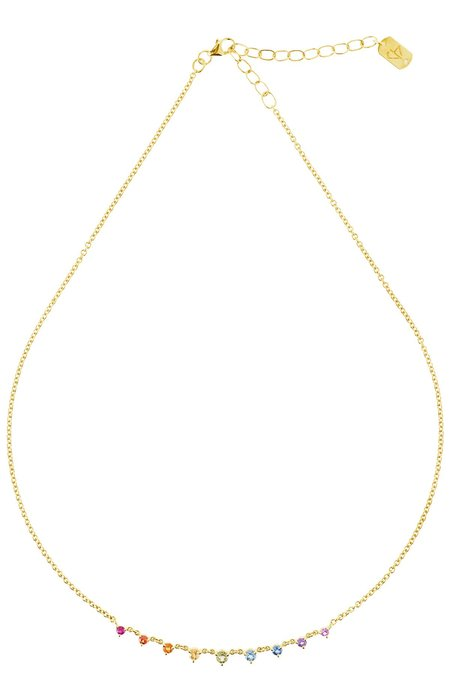 Carbon & Hyde Rainbow Mini Starstruck Necklace - YELLOW GOLD