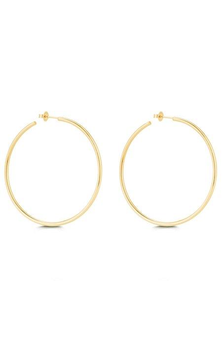 Carbon & Hyde Skinny Tube Hoop Earrings