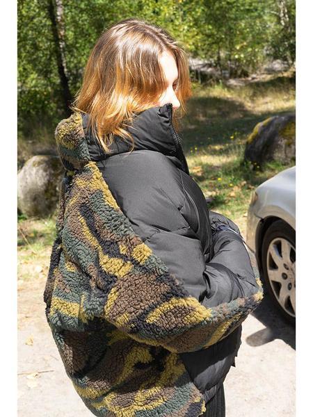 Unisex Sandy Liang Catan Puffer Jacket - Camo