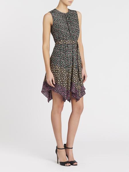 Rebecca Taylor Louisa Floral Mixed Print Dress