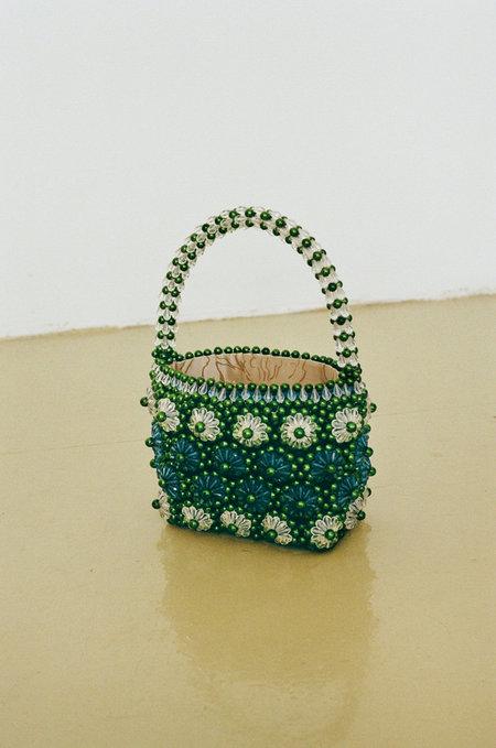 SHRIMPS Shelly Bag - Khaki/Turquoise