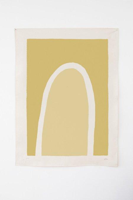 Upton Truss Print on Canvas - Yellow