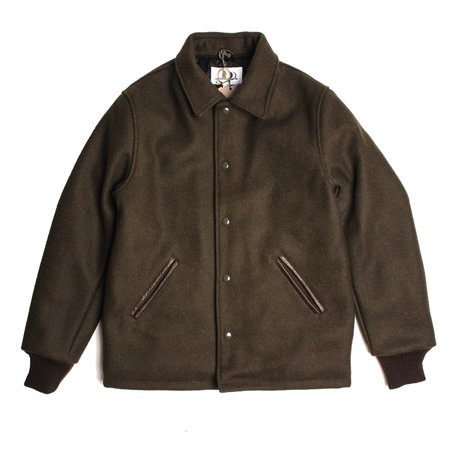 Golden Bear Wool Varsity Jacket - 32oz Dark Olive