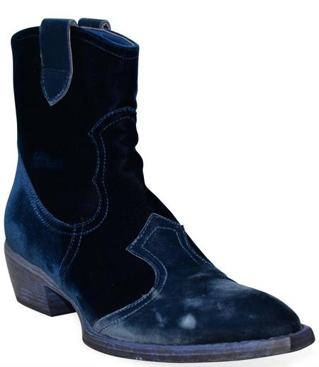 Madison Maison King Velvet Boots - Blue