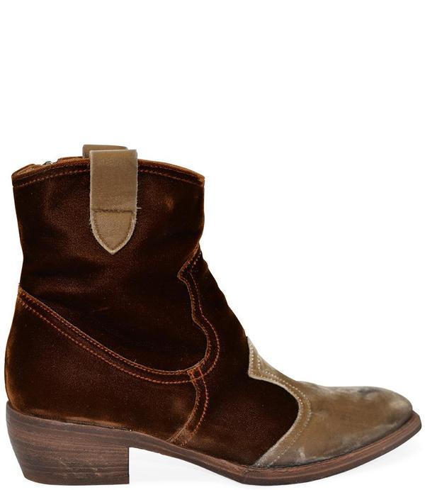 Madison Maison King Velvet Boots - Tan