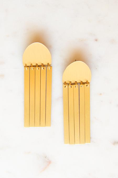 David Aubrey Inc Dangle Earrings - Satin Brass