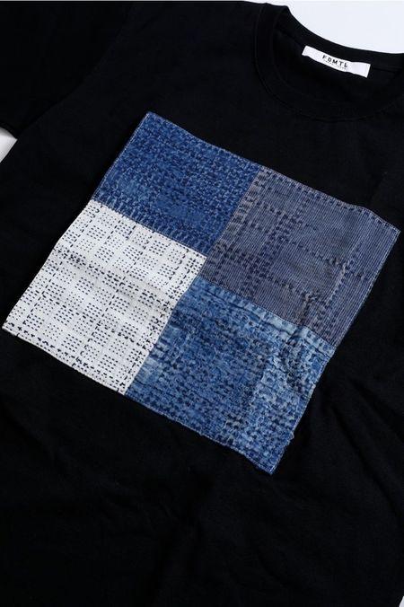 FDMTL Boro Patchwork Long Sleeve Tee - Black