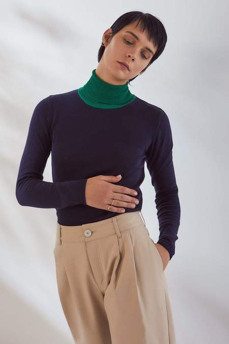 Kowtow Knit Roll Neck Top - night