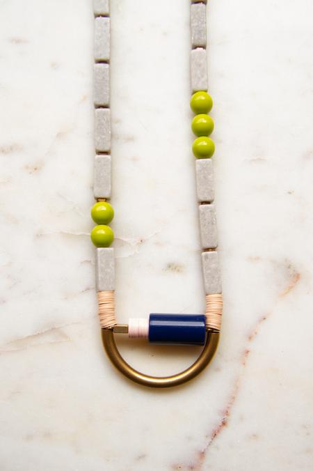 David Aubrey Inc Vintage Navy Acrylic Necklace
