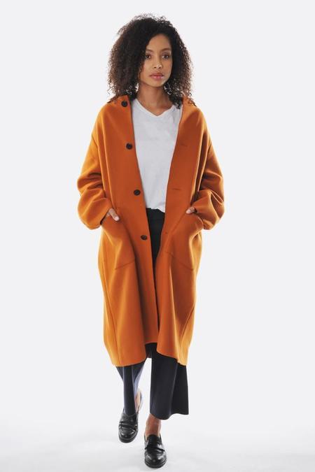 unisex Oyuna Honey Oversized Woven Coat - Honey