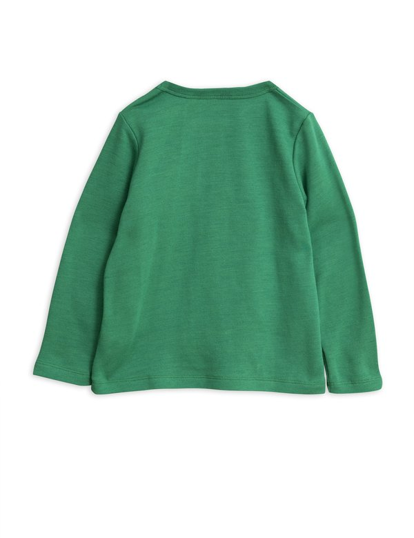kids mini rodini panther wool terry sweatshirt - green