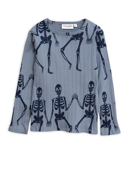 kids mini rodini skeleton long sleeve tee