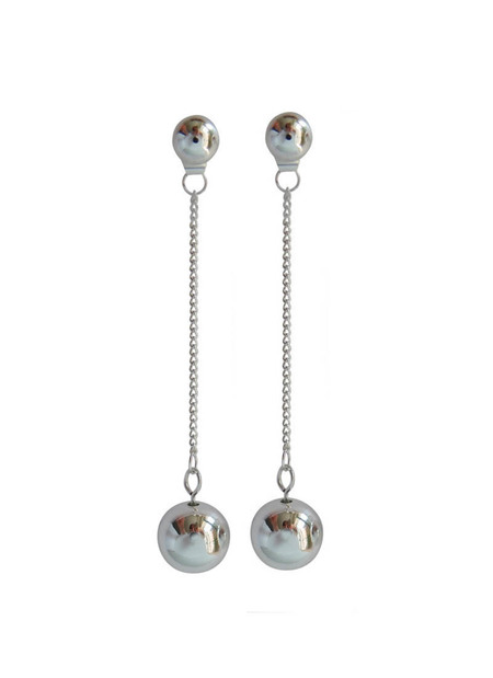 Cled COMMON MUSE NELLE BALL EARRINGS - Silver-plated alloy