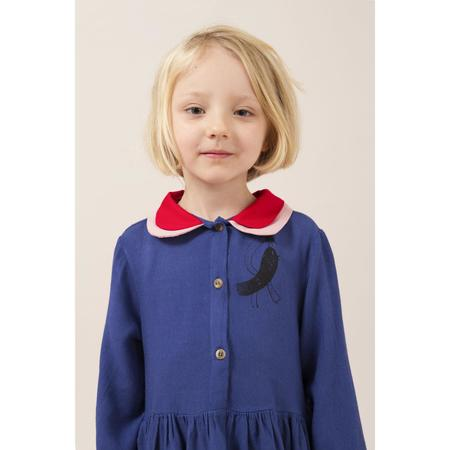 kids bobo choses bird princess dress - royal blue