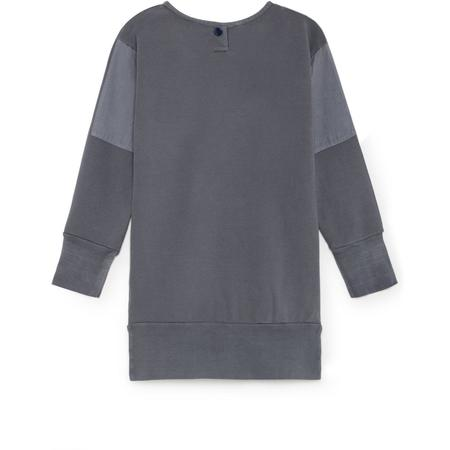 kids bobo choses bitter sweet fleece dress - vintage grey
