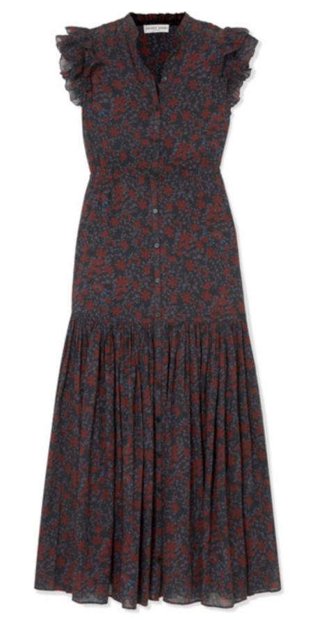 Apiece Apart Pacifica Maxi Dress - Black Potpourri