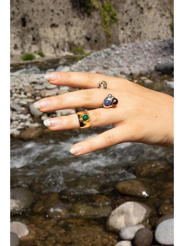 Quarry Grete Ring - Malachite
