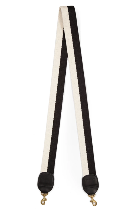 Clare V. Crossbody Strap - Black/White